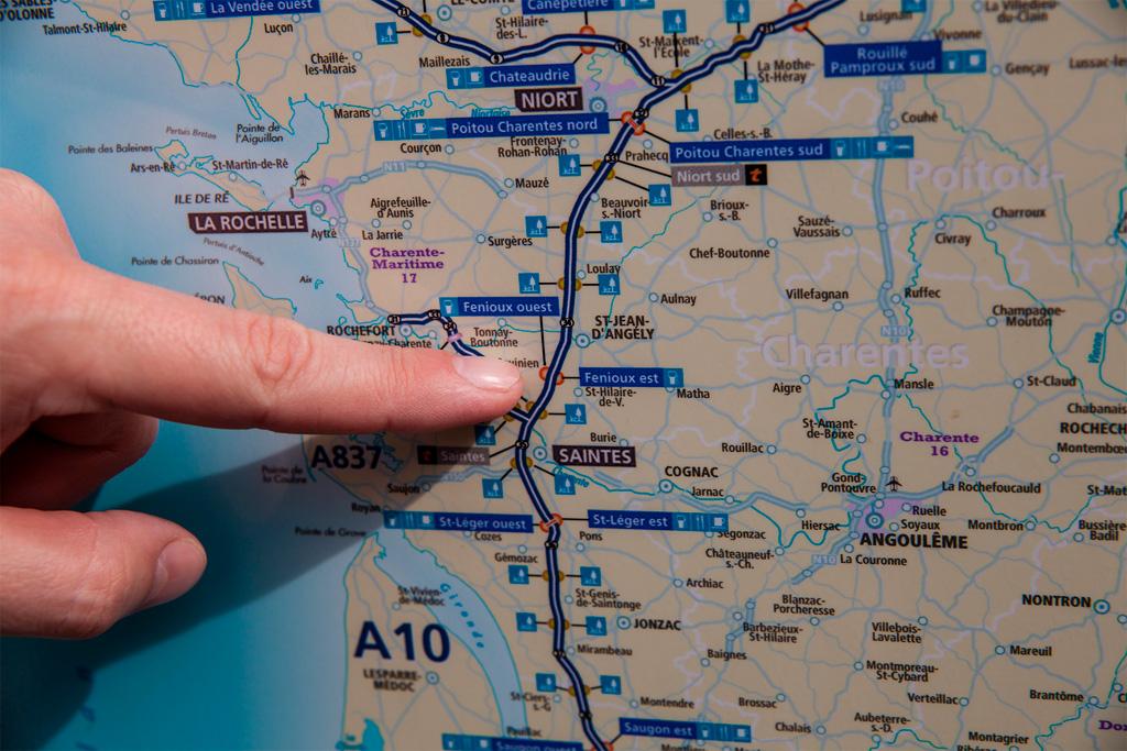 Samochodem przez Europę - fragment mapy