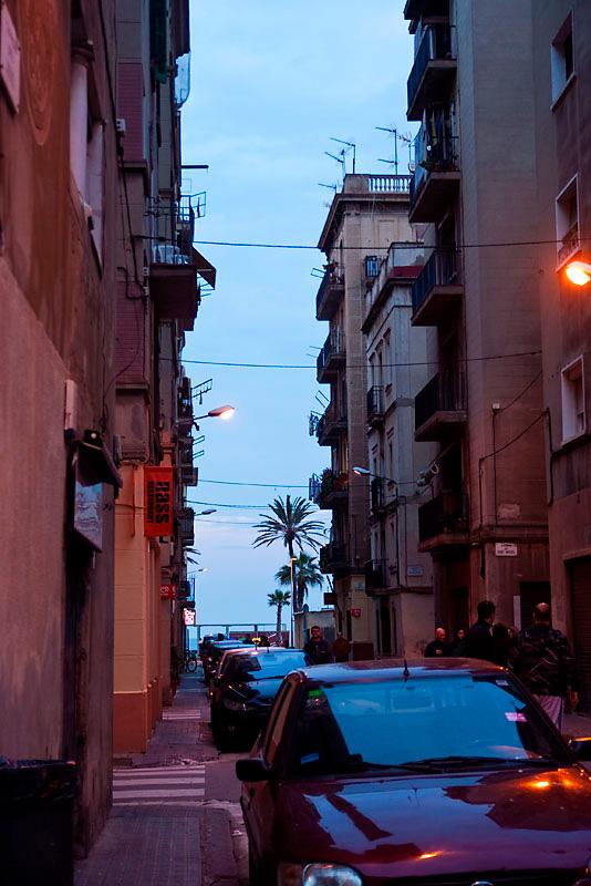 Wąskie uliczki Barcelonety