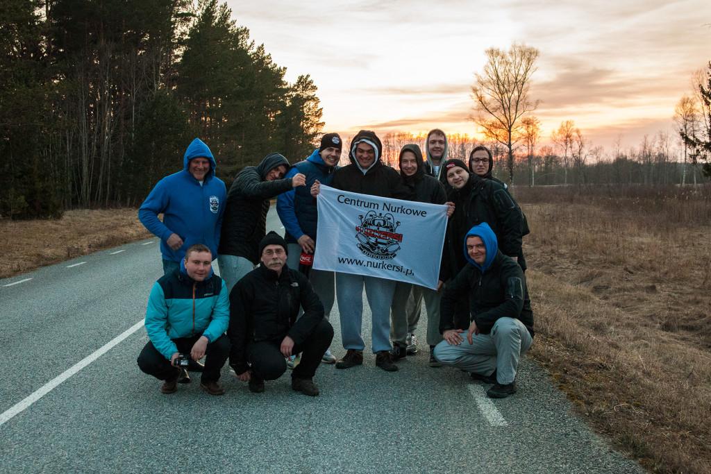 Nurkersi Team w drodze nad morze