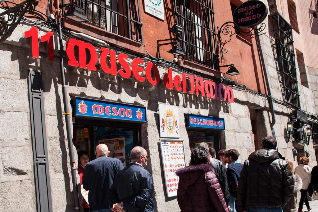 Museo del Jamón - jedno z wielu w Madrycie