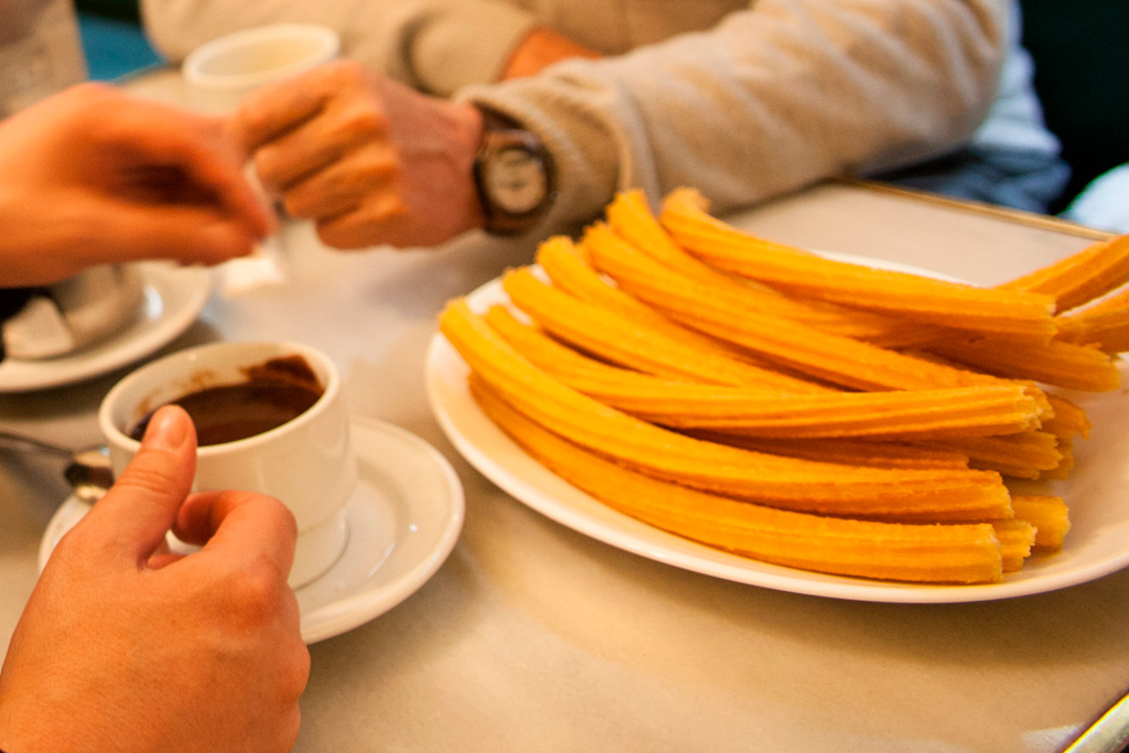 Chocolate con churros, Madryt