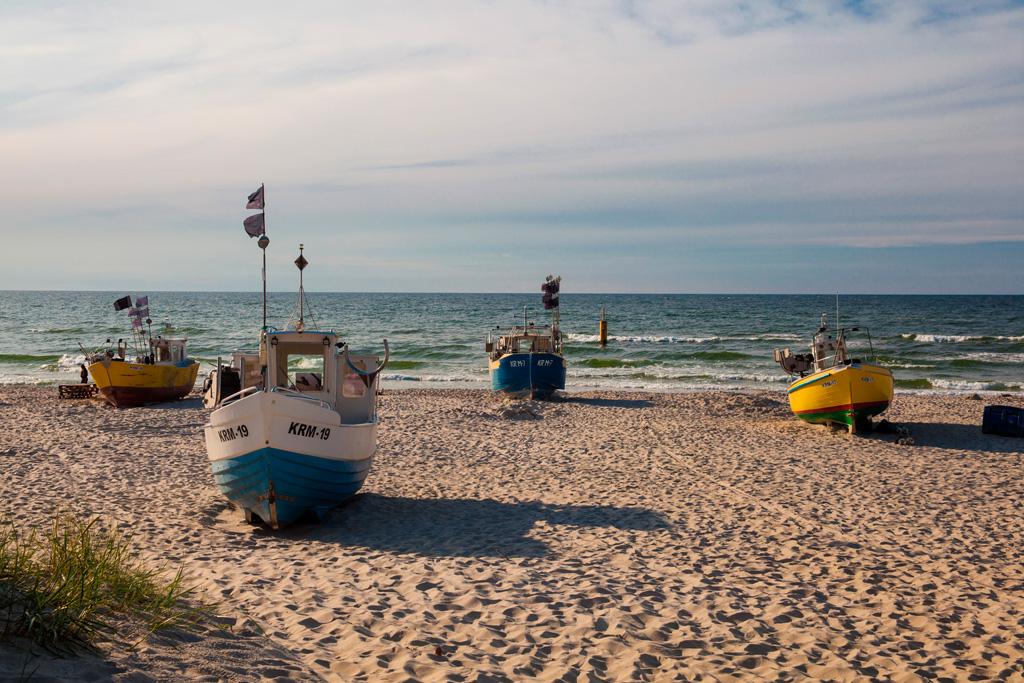 Port rybacki w Krynicy Morskiej od strony morza