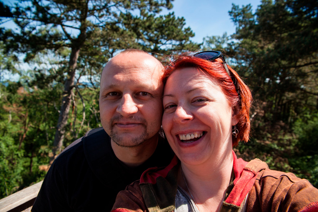 Selfik na Wielbłądzim Garbie. Gdzieś tam za nami jest morze :)