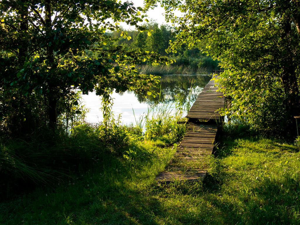 Drewniane pomostki kuszą :)