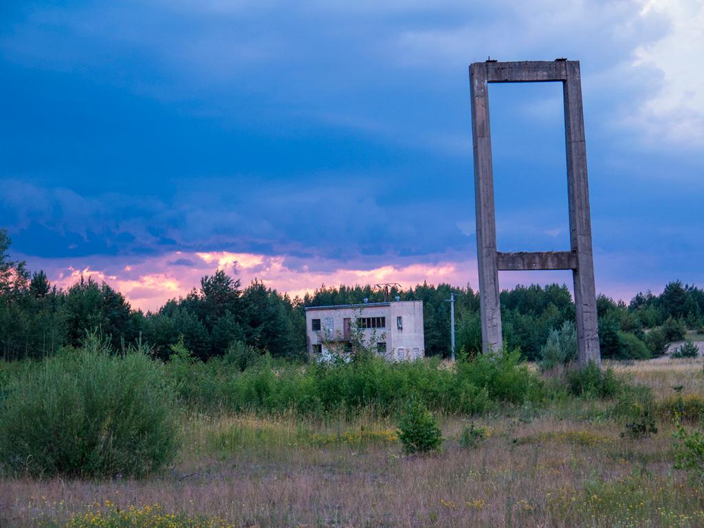 Budynki starej kopalni