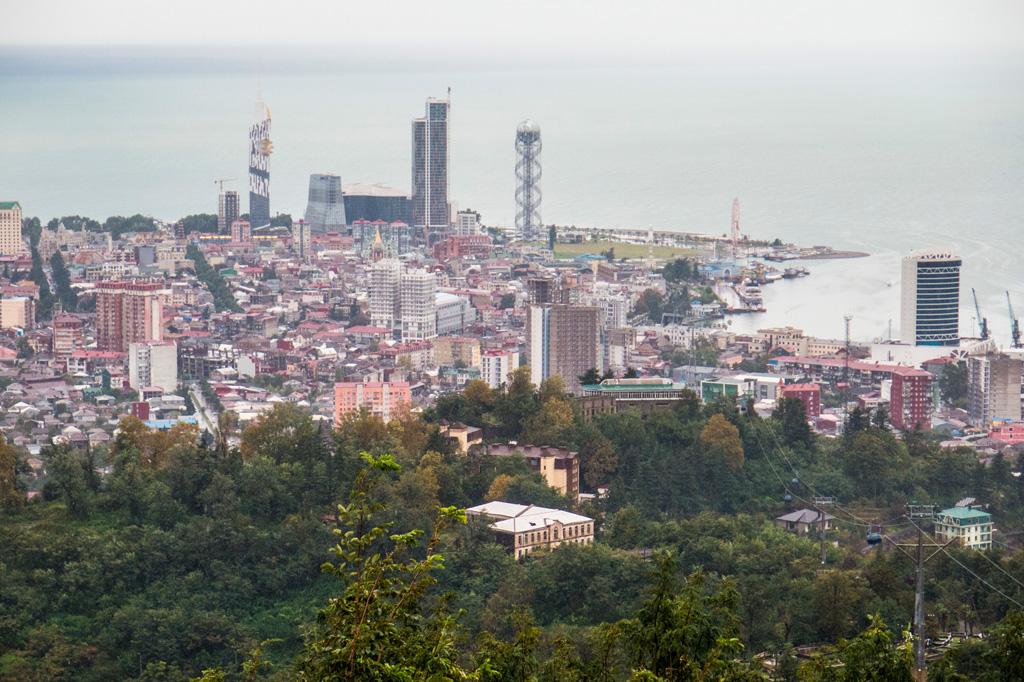 Batumi ze wzgórza, widok na Morze Czarne (Szare ;)