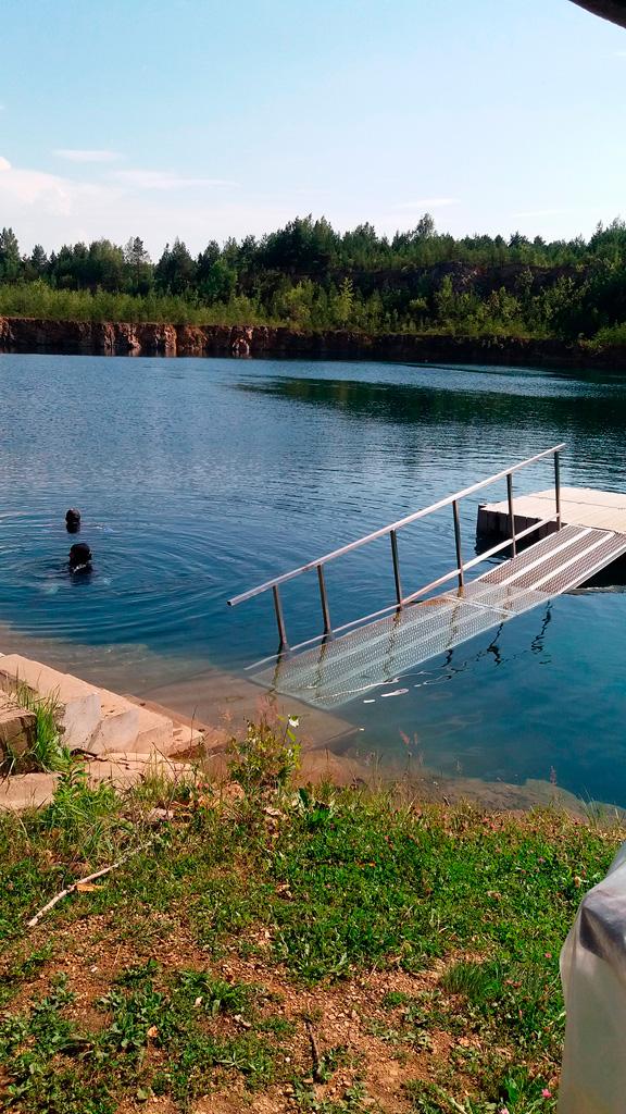 Nurkowanie na Koparkach dzięki pomostom teraz łatwiej zacząć i zakonczyć :)