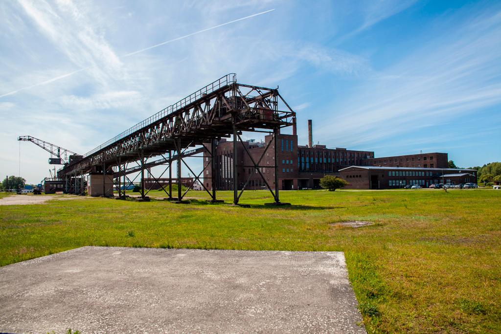 Militarny i przemysłowy krajobraz wyspy Uznam