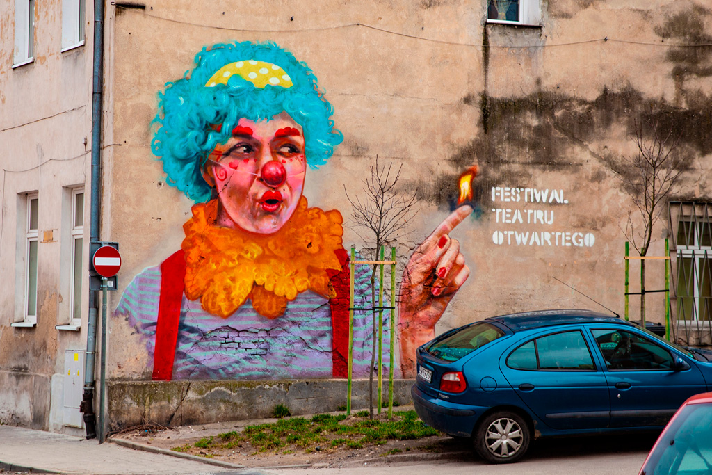 Portret klauna Fifi autorstwa Roberta Kukli