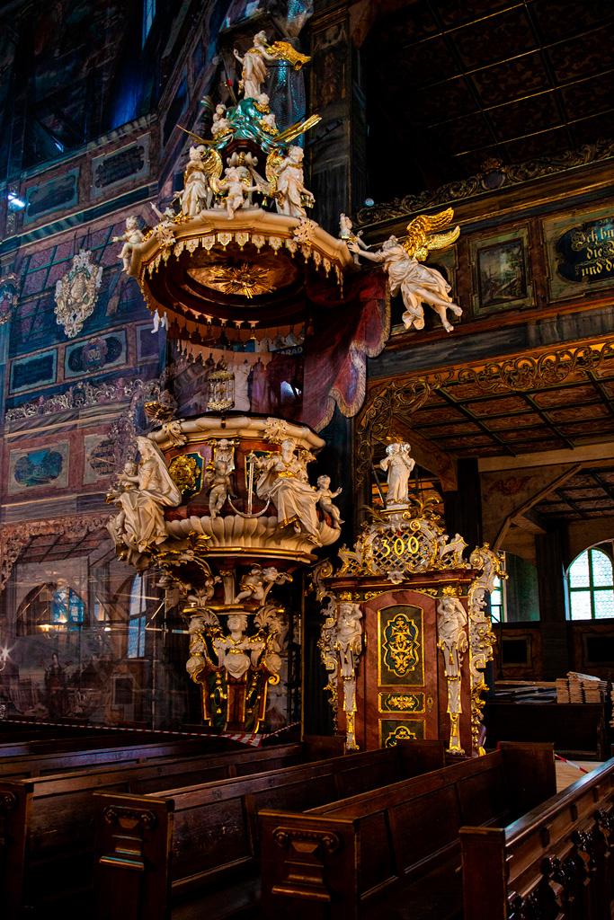 Kościół Pokoju w Świdnicy - barokowa ambona