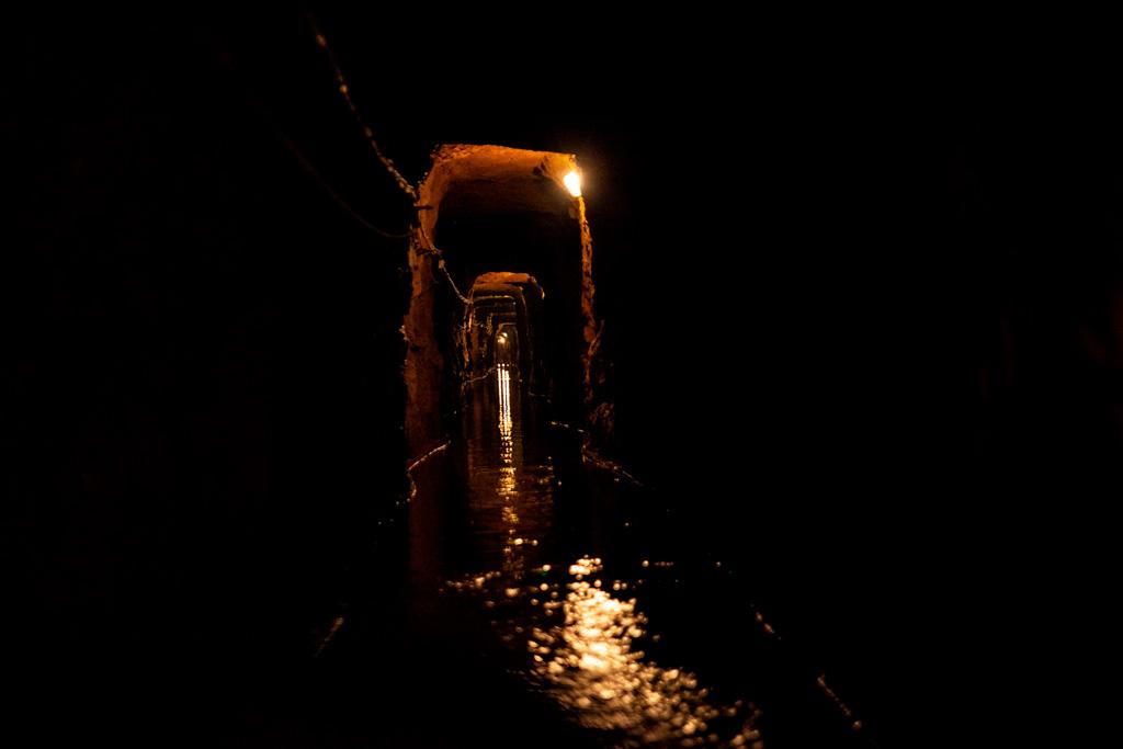 Kopalnia Srebra w Tarnowskich Górach - wąska podziemna rzeka