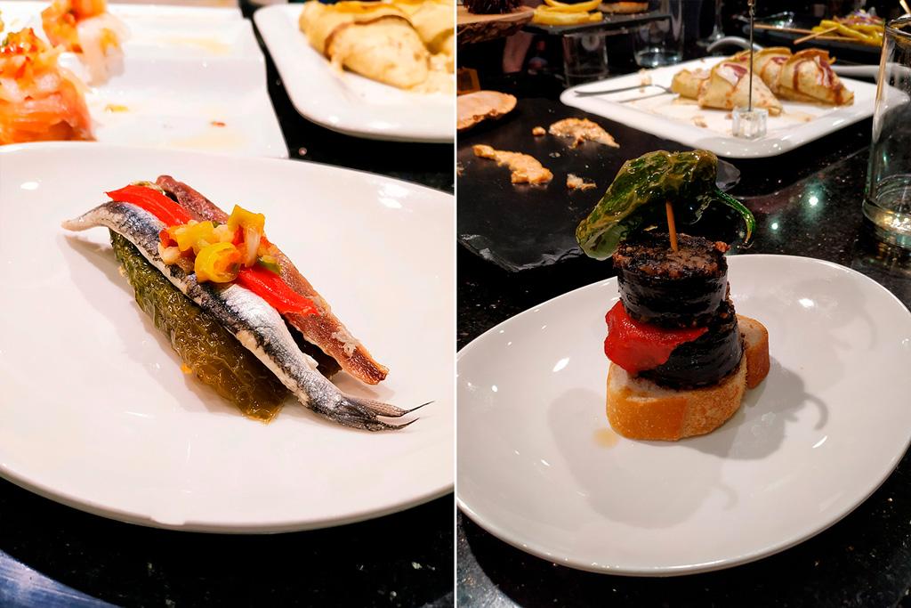 Kanapka z rybkami i z kaszanką, obie super :)