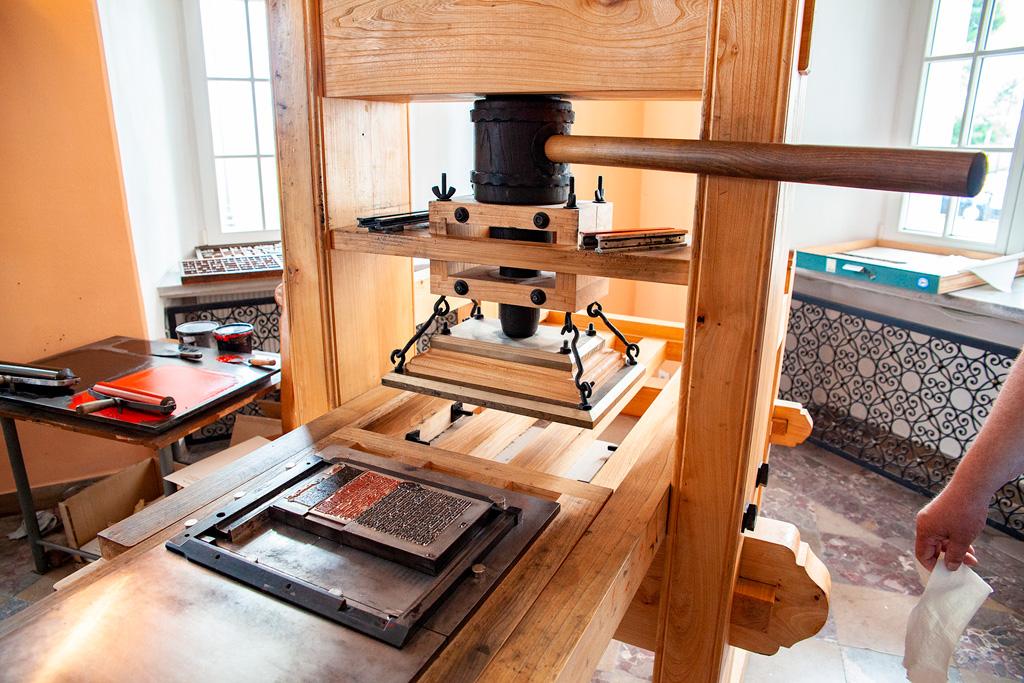 Podlasie - muzealna maszyna drukarska