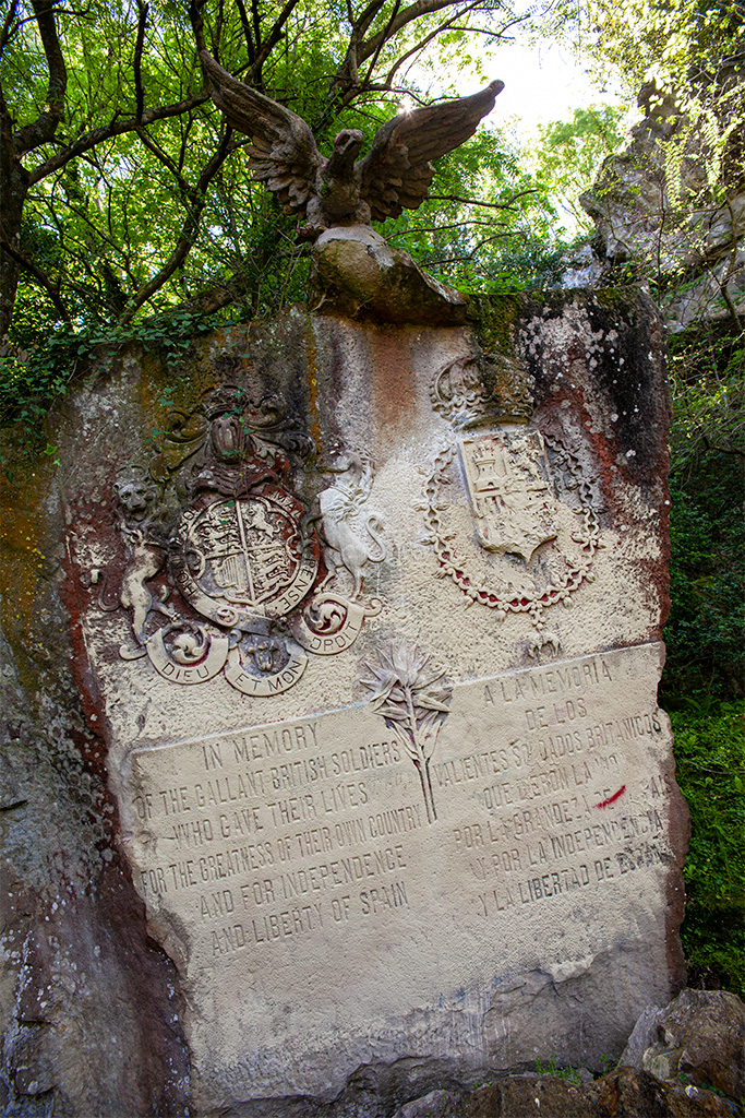 San Sebastian - tablica na Cementerio de los Ingleses