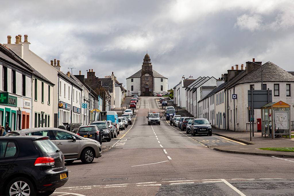 Głowna ulica w Bowmore na Islay