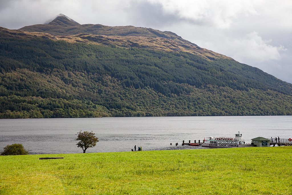 Loch Lomond i statek wycieczkowy