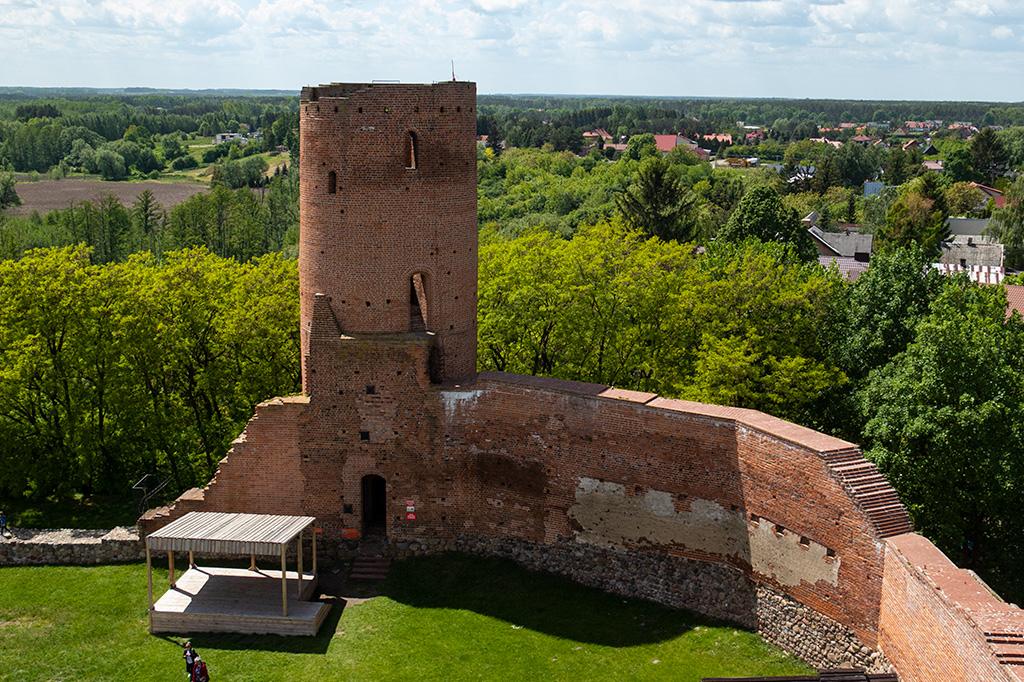 Zamek w Czersku – widok z wieży