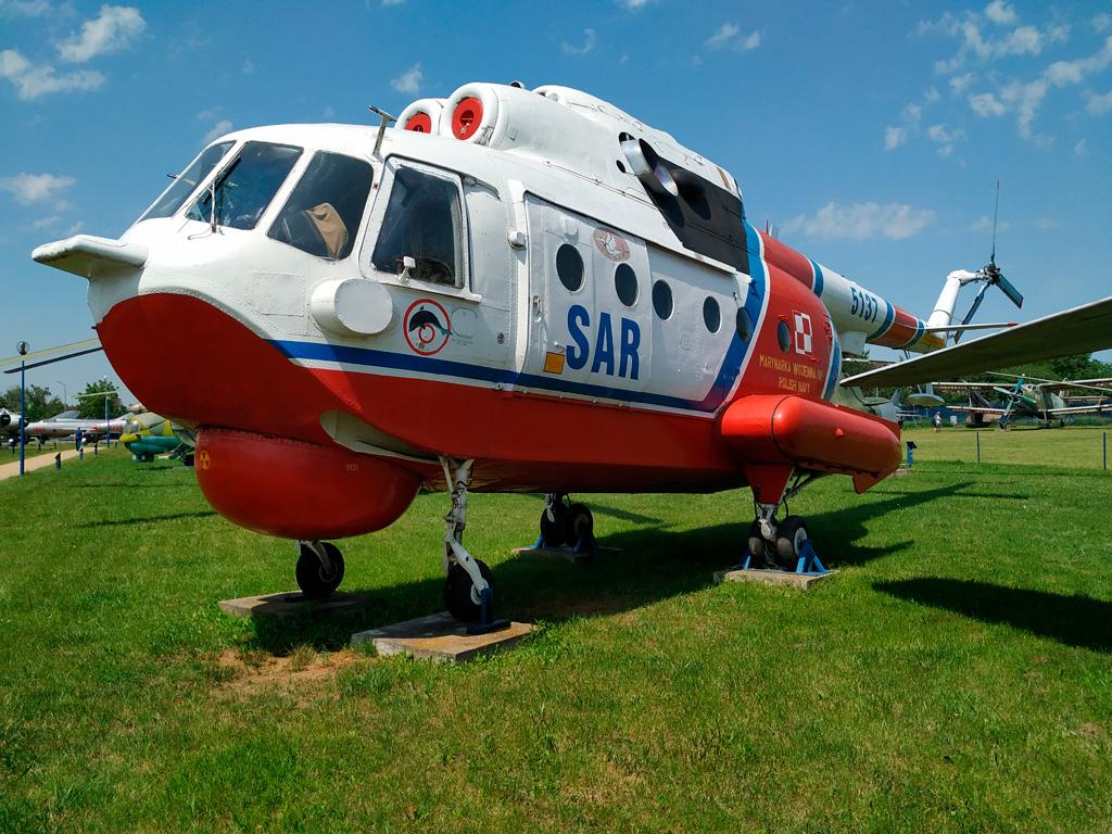 Muzeum Sił Powietrznych w Dęblinie – helikopter SAR bez wirnika