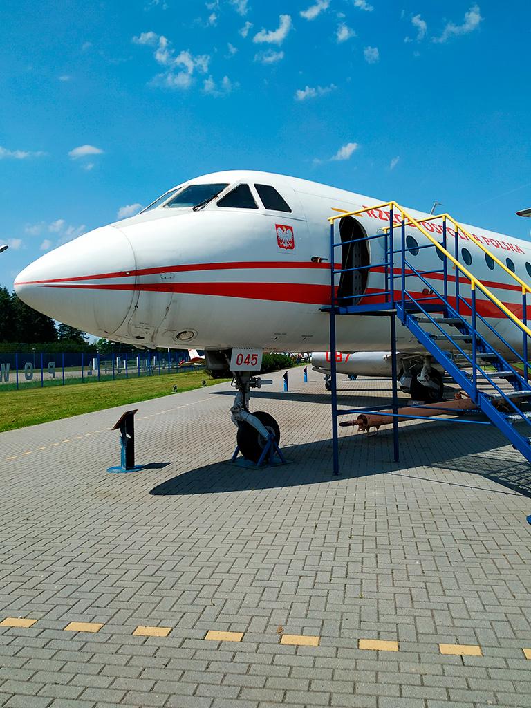 Samolot rządowy można zwiedzać w środku