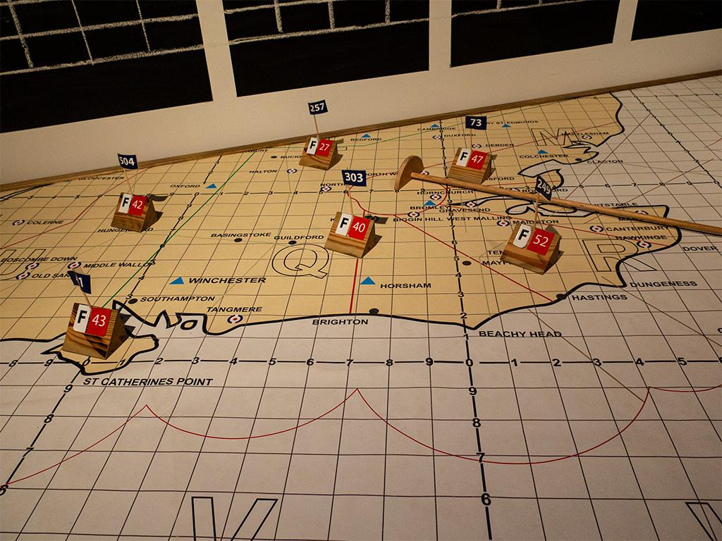 Mapa pozycji samolotów
