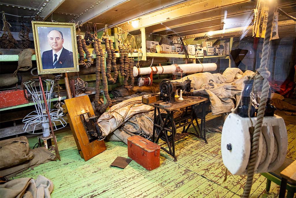 Stralsund –izba pamięci na żaglowcu Gorch Fock