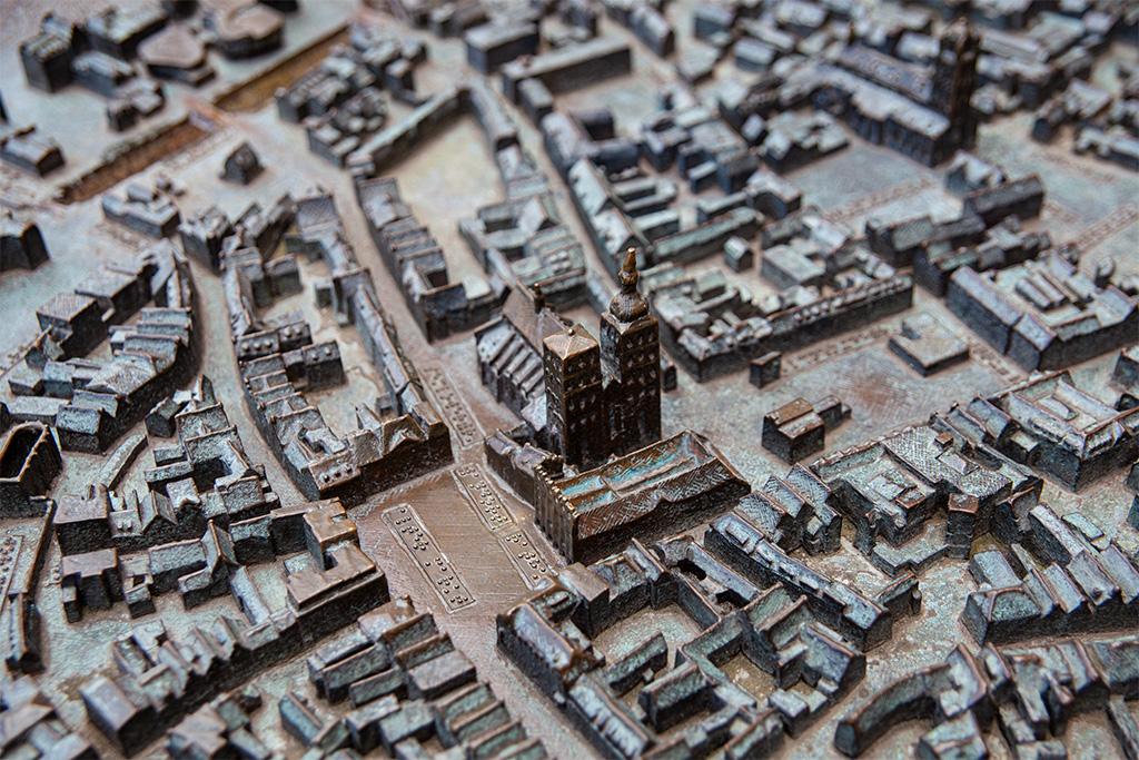 Makieta starego miasta w Stralsundzie