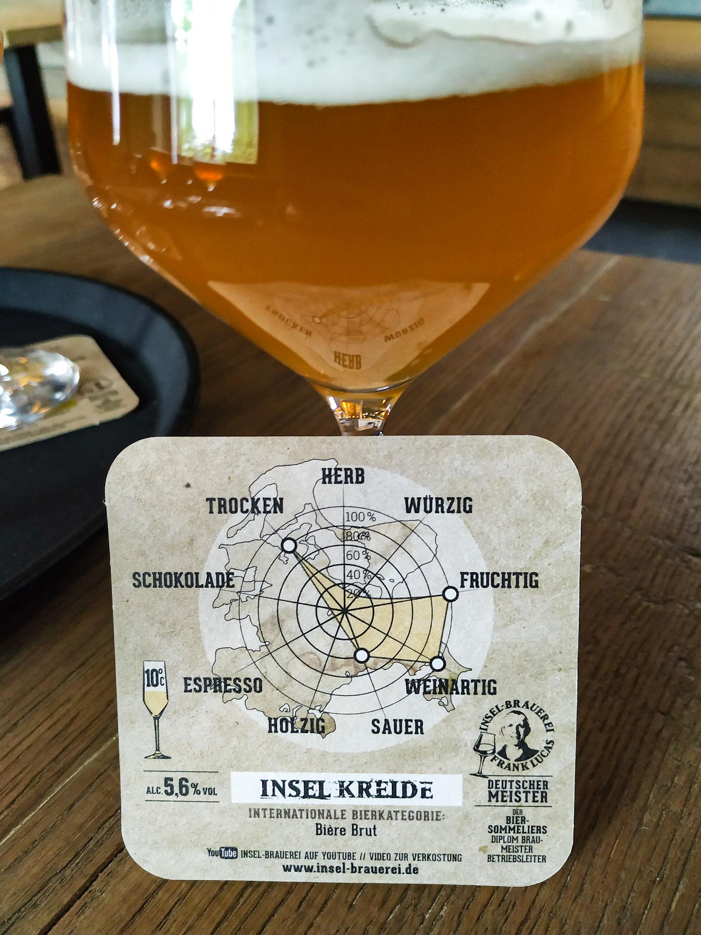 Insel Kreide Biere Brut - wykres smaku