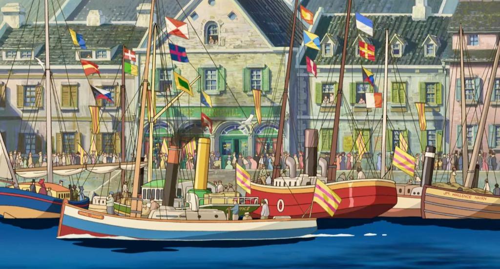 Anime city break – małe statki w porcie