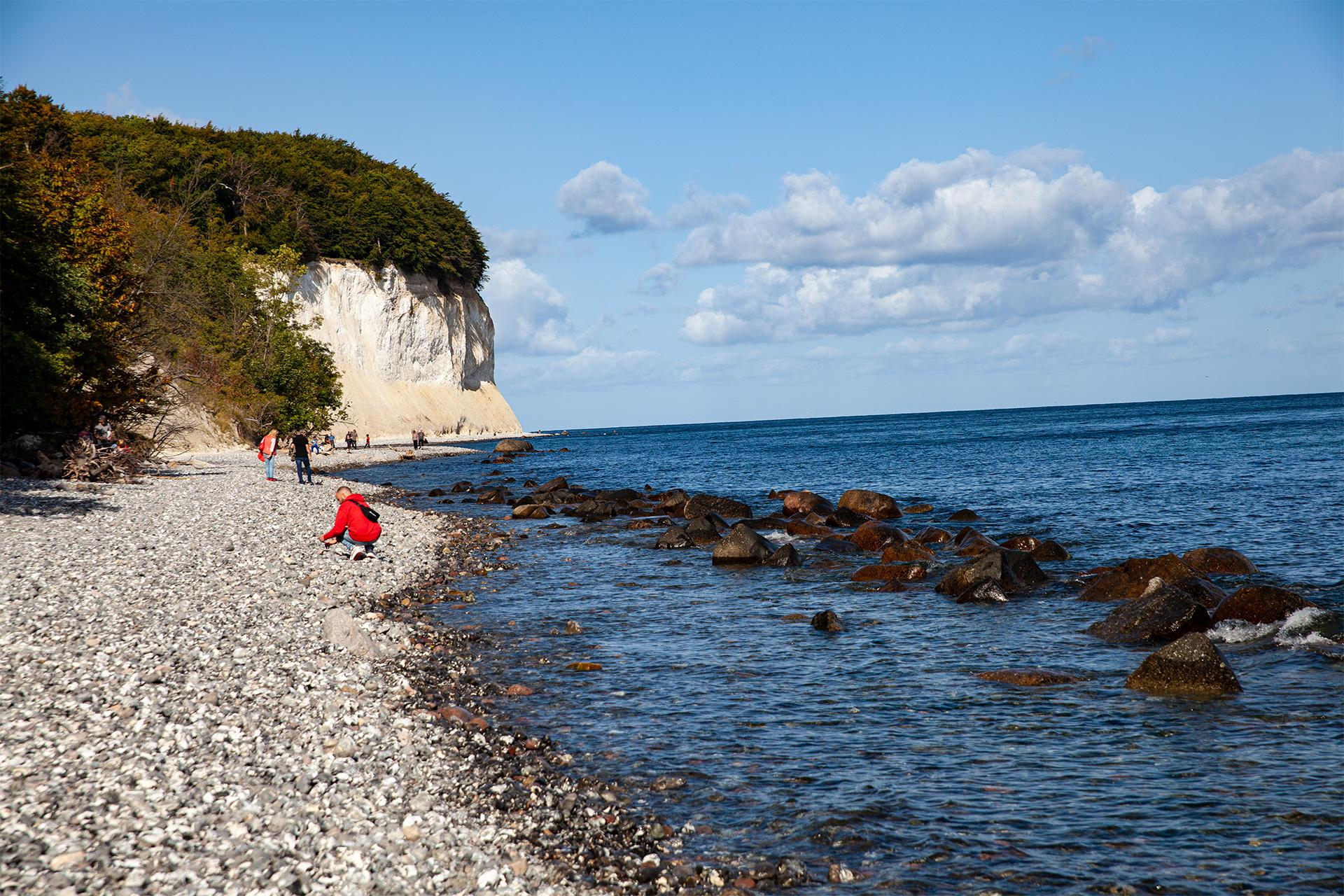 Rugia – wąska, kamienista plaża