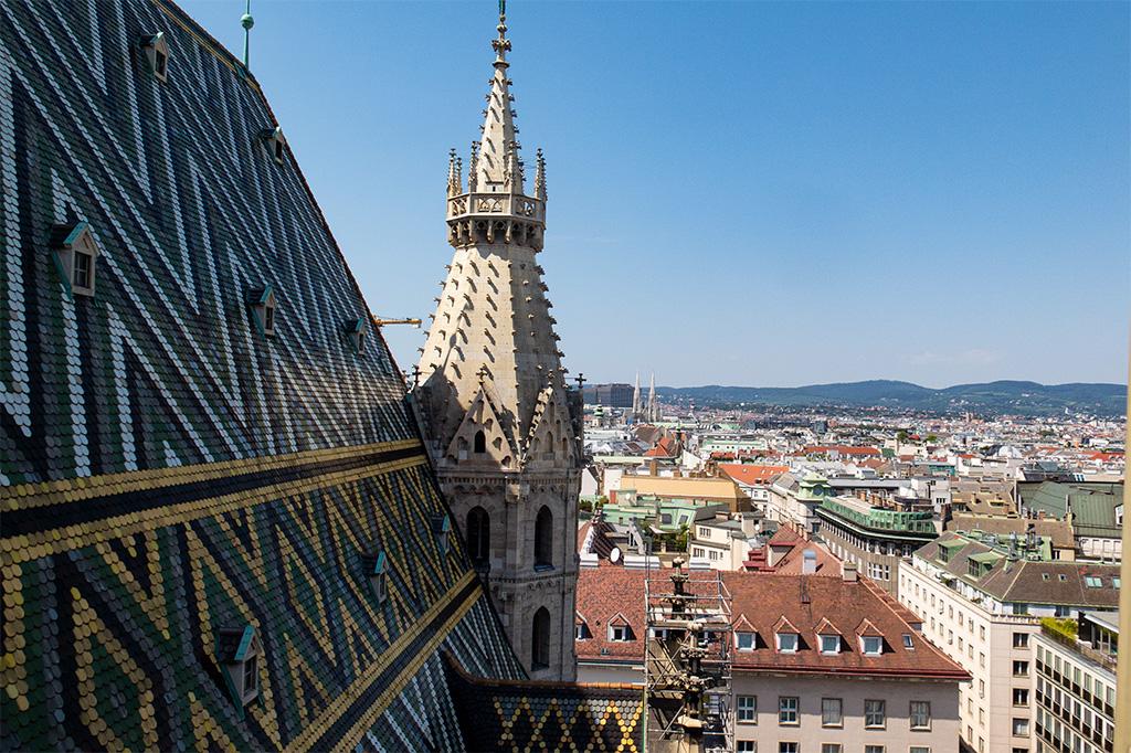 Wiedeń, city break – widok z wieży katedry